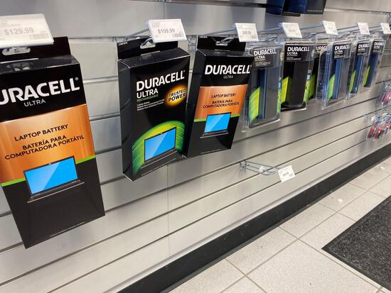 10 assorted Duracell Rechargeable Laptop Batteries & Adapters