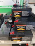 12 Duracell Ultra 12v 3.3Ah batteries