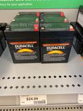 6 Duracell Ultra 12v 2.9Ah batteries