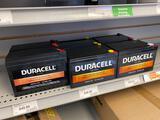 6 Duracell Ultra assorted 12v batteries