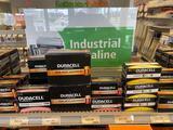 Shelf load of Duracell 9v, 6v, AA, AAA, C,