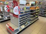 Approx 10.5ft x 2.5ft Double Sided Store Display Rack-No Contents