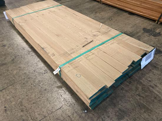 Approx 44 pcs of Rough Oak Lumber, 4/4 thick