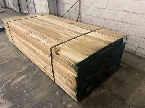 Approx 55 pcs of Hickory Lumber, 8/4 thick