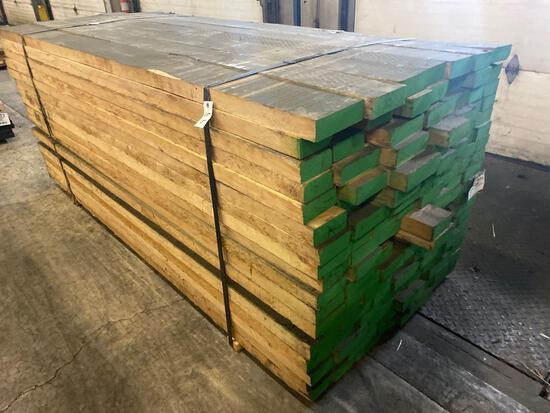 Approx 126 pcs of Hard Maple Prime Lumber. 8/4 thick