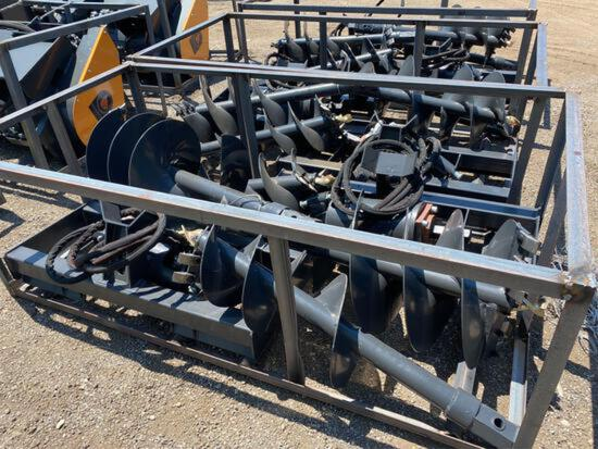 NEW Wolverine Skidloader Auger Set w/ 2 bits (12 & 18in)