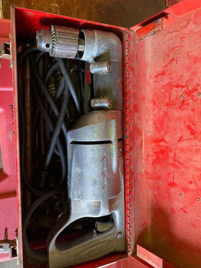 Milwaukee 110v Right Angle Drill w/ bits