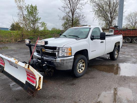 2013 Chevy Silverado 3500 4x4 Pickup Truck w/ Plow Setup