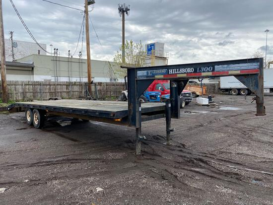 Hillsboro Co L300 28ft Tandem Gooseneck Equipment Trailer