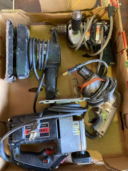 Group Lot of (4) Assorted 110v Power Tools.