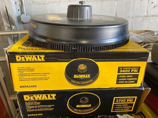 (3) Dewalt 18in Pressure Wash Surface Cleaners