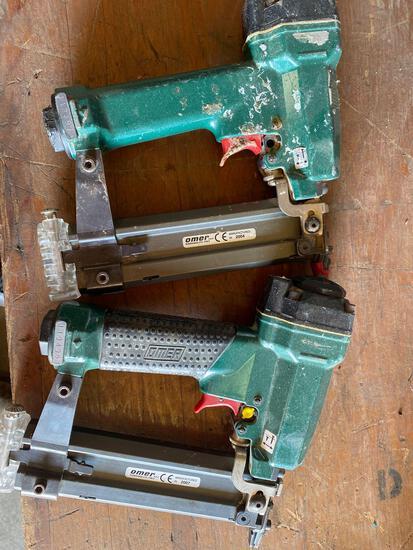 (2) Omer Co Air Pin Nailers