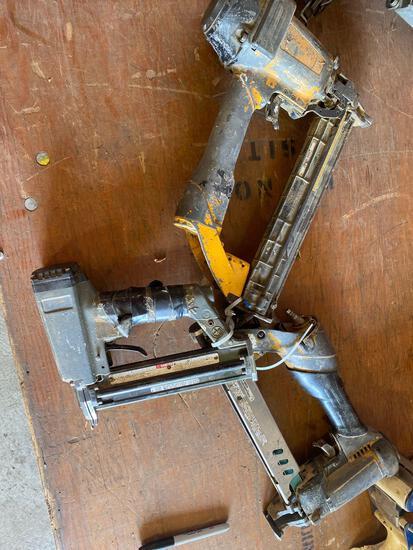 (3) assorted air tools-2 staplers, 1 pinner