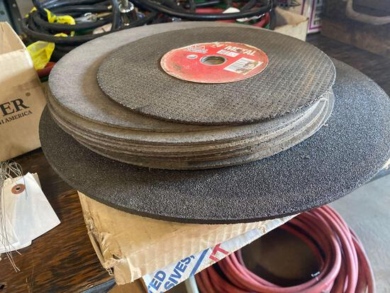 Stack of Assorted Cut Off & Grinding Wheels