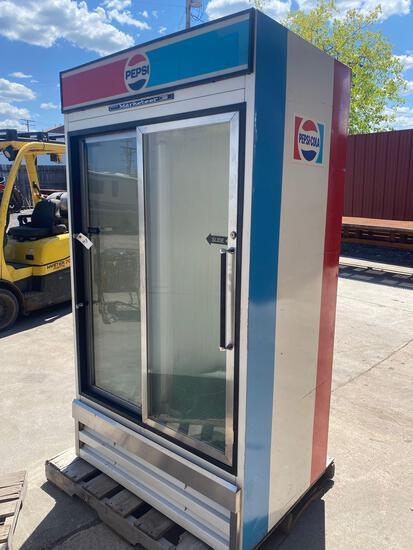 Beverage-Air Marketeer Double Door Cooler.