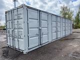 NEW- Unused 2020 Wolverine 40 ft high cube storage container, (4) open side doors