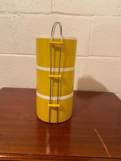 Vintage 3 Piece Canister...Set with Metal Carrying Handle