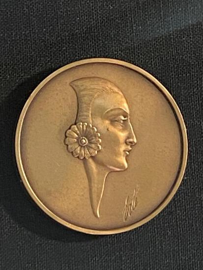 2 Erte Bronze Medallions