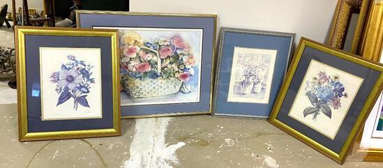 4 Framed Pictures