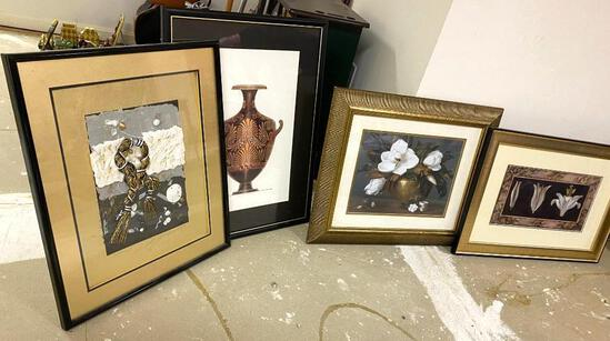 4 Modern and Mixed Media Framed Pictures