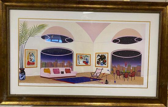"""Francois Fanch """"The Oval Lounge"""" Seriolithograph"""