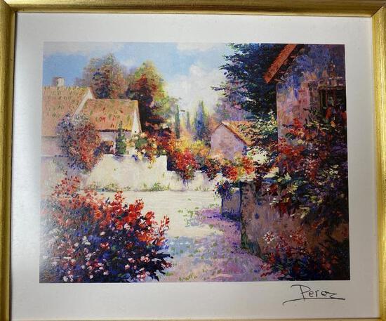Alex Perez - Village View III - Seriolithograph - Signed