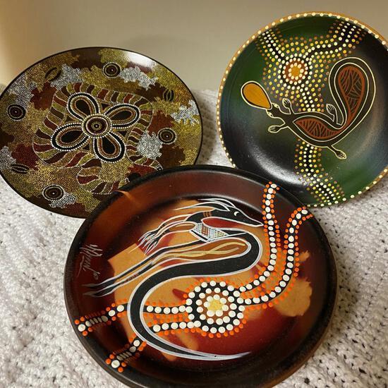 3 Aboriginal Art Pieces From Australia