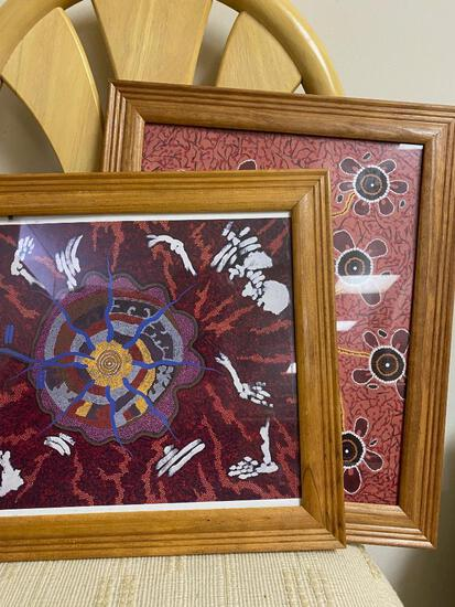 2 Reproductions of Aboriginal Art