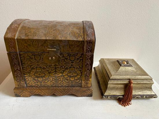 Two Decorative Accessory Boxes