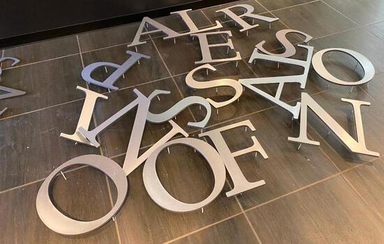 Spell Out YOUR Message with these Metallic Letters