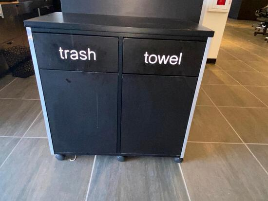 TRASH AND TOWEL BINS