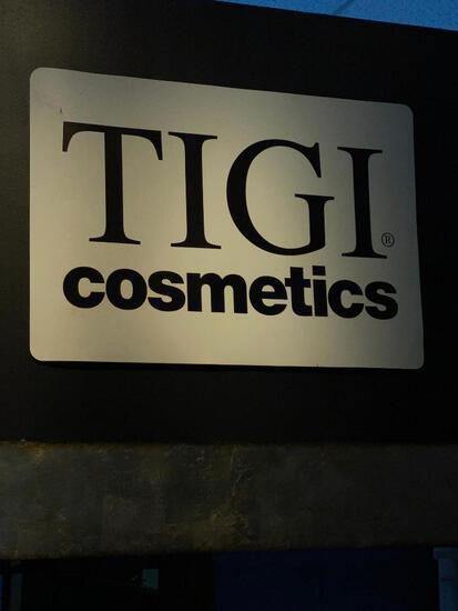 TIGI COSMETICS WALL SIGN