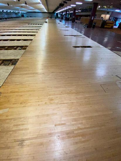 Reclaimed Wood - Vintage Bowling Alley Lane Maple Wood Approach
