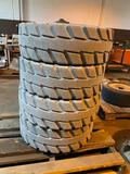 4 Aerial Lift Tires