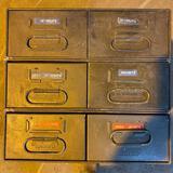 6 Metal Safe-T-Stak Drawers