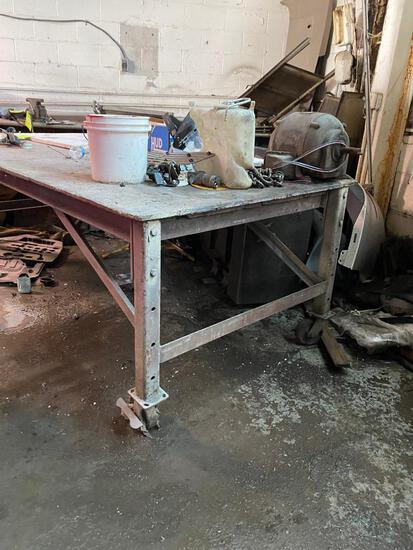 4' x 8' Industrial Rolling Work Table
