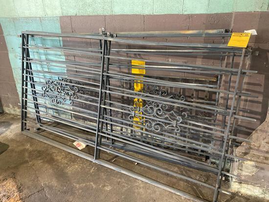 (4) 91in x 46in Vintage Metal Grates