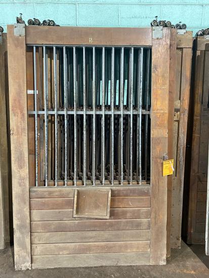 (6) 53.5 wide x 83.5 tall Vintage Oak Rolling Barn Doors