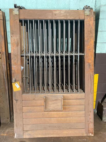 (7) 53.5 wide x 83.5 tall Vintage Oak Rolling Barn Doors