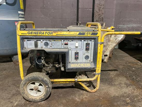 Wacker G37 Gas 3700 watt Generator-Honda 8hp