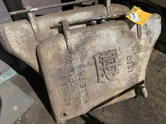 (2) 38in tall x 26in wide Vintage Series S.R. Iron Works Co Ville PA Boiler Doors