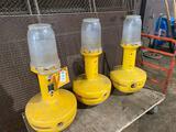 (3) Phillips Supply Co 110v Wobble Lights