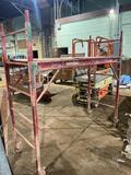 (1) Rolling Adjustable Section of Scaffold 6ft x 29in.