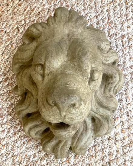Lion's Head Garden Sconce