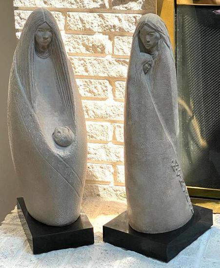 2 Vintage Austin Productions...Acoma...Native American Sculptures