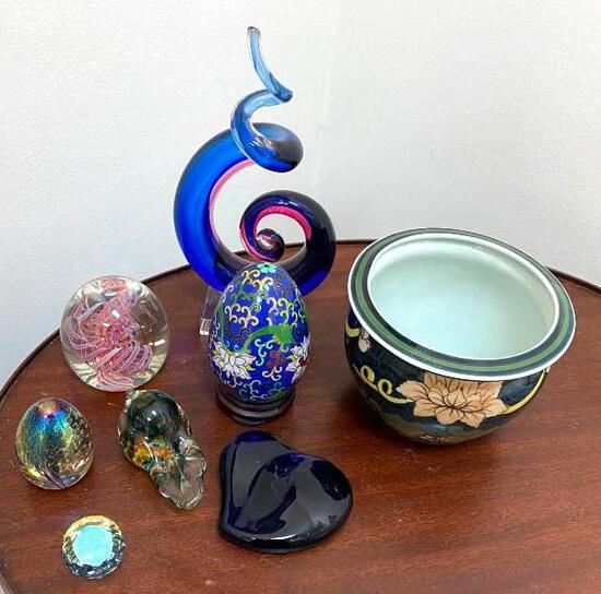 Glass and Ceramic Decor Lot