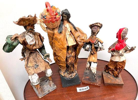 Captain Hook and Polynesians in Paper Mache Medium