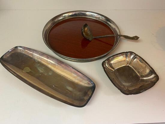 Lot of Silver-plated Serveware. Rogers & Sons, Reed & Martin, and More