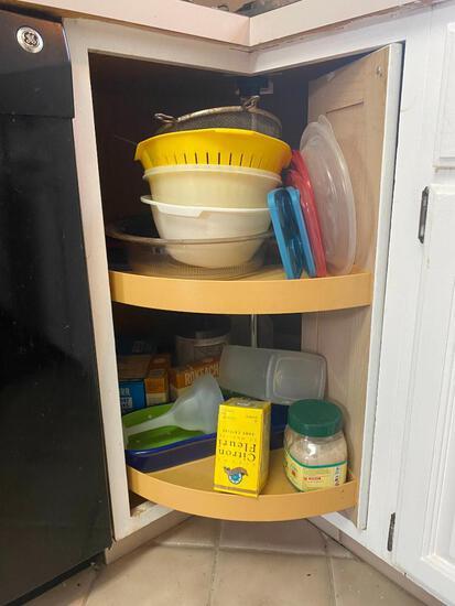 Lazy Susan Cabinet Cleanout