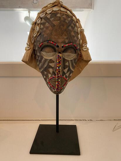 African Mask on Display Stand